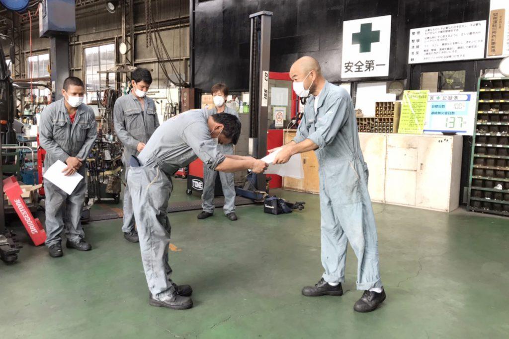 外国人自動車整備技能実習評価試験に合格その3