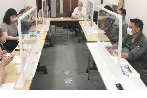 外国人技能実習生とのミーティング