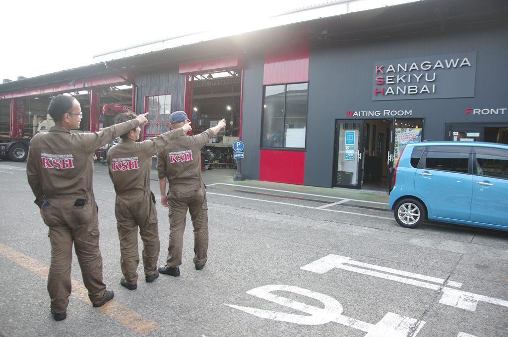 新制服3人衆の勇姿!バス、トラック、どんな整備でもお任せあれ!